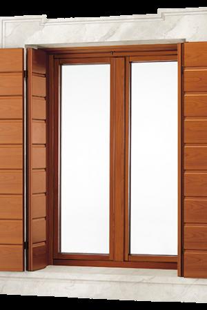 Finestre alluminio effetto legno